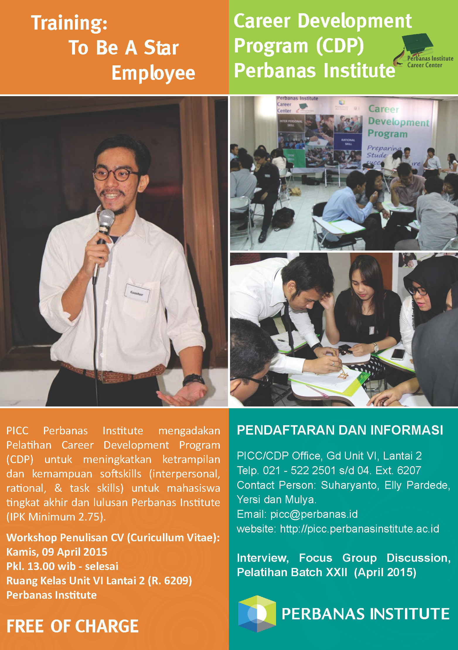 Training Career Development Program (CDP) Perbanas Institute Batch XXII