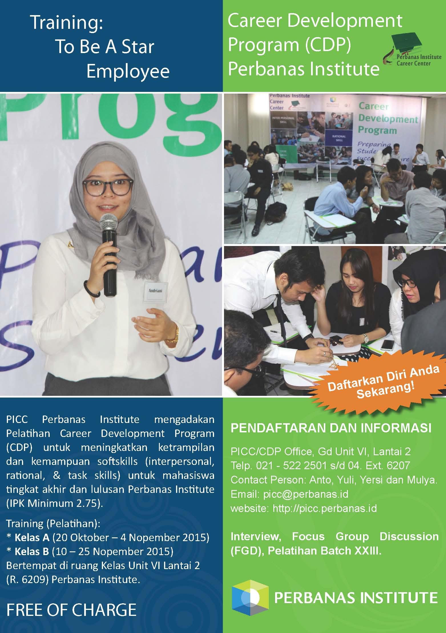 Training Career Development Program (CDP) Batch XXIII
