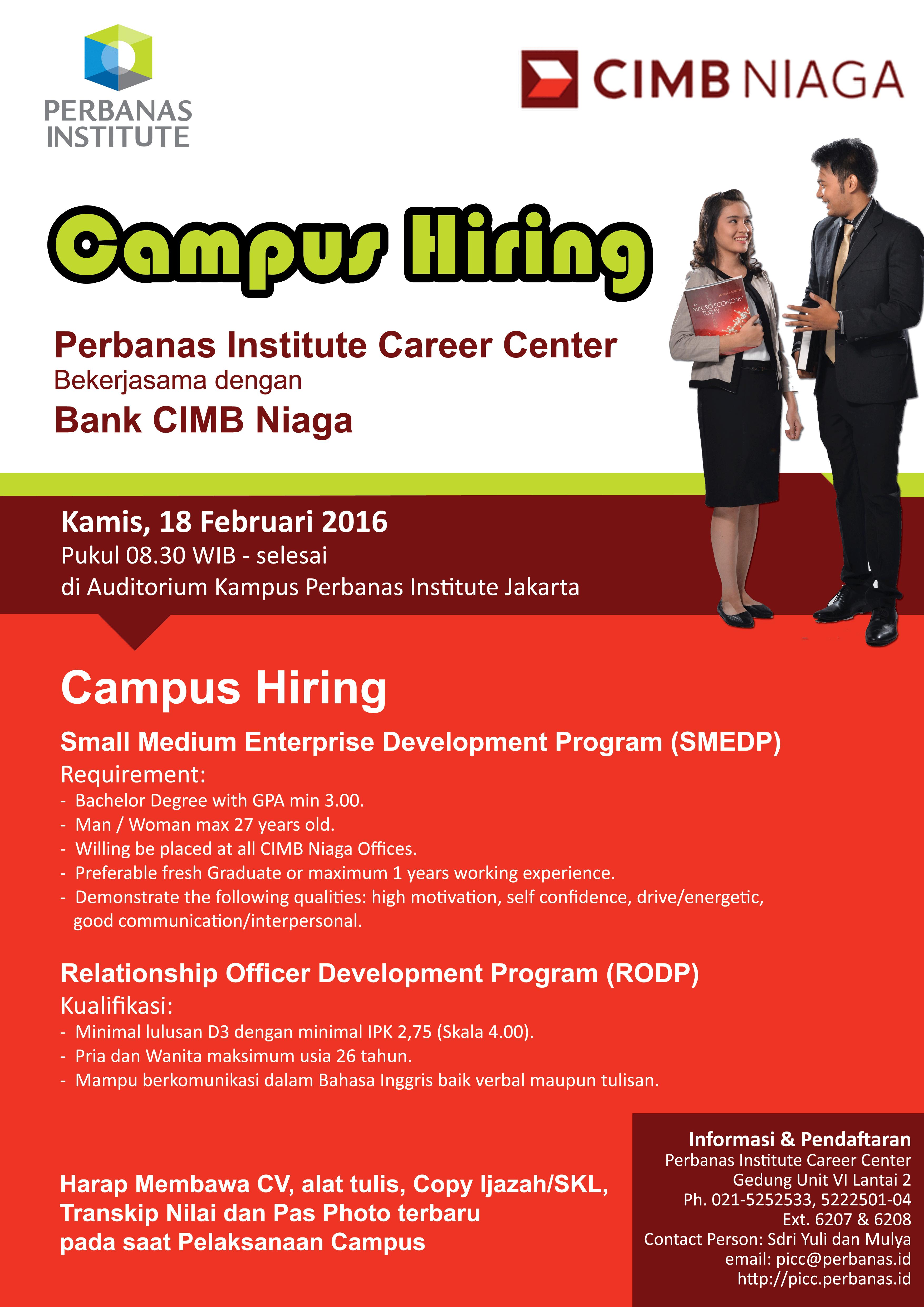 Campus Hiring Bank CIMB Niaga