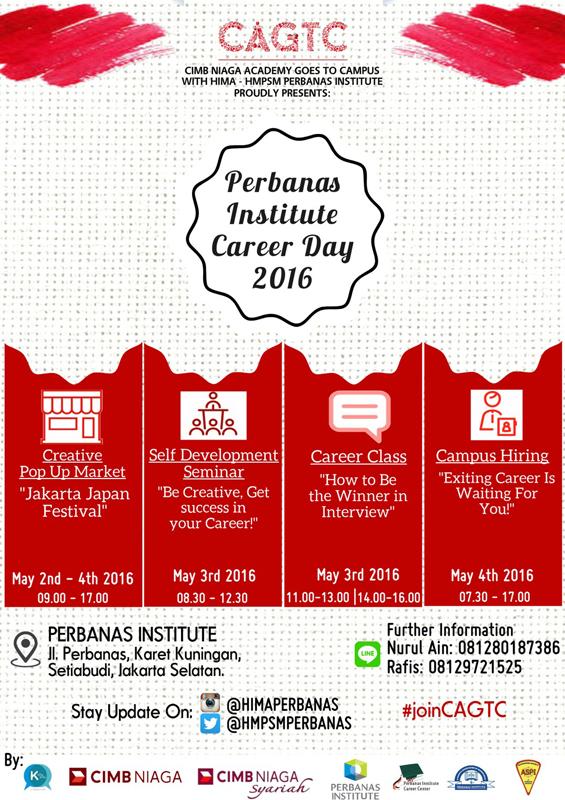 PERBANAS INSTITUTE CAREER DAY 2016