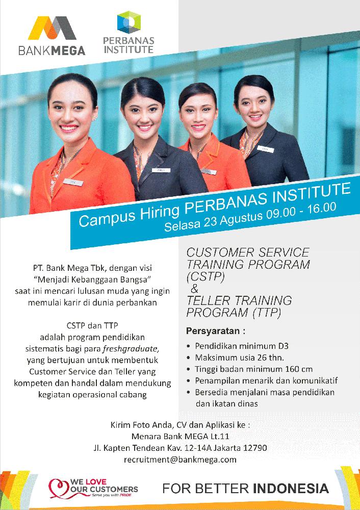 Campus Hiring (Campus Recruitment) PT. Bank Mega