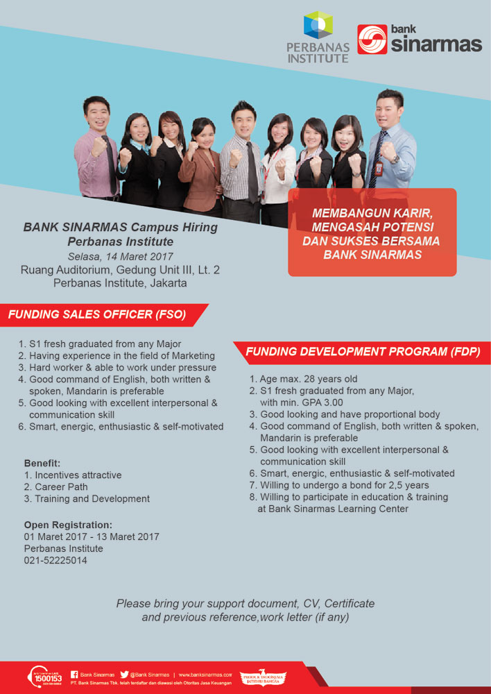 BANK SINARMAS Campus Hiring Perbanas Institute