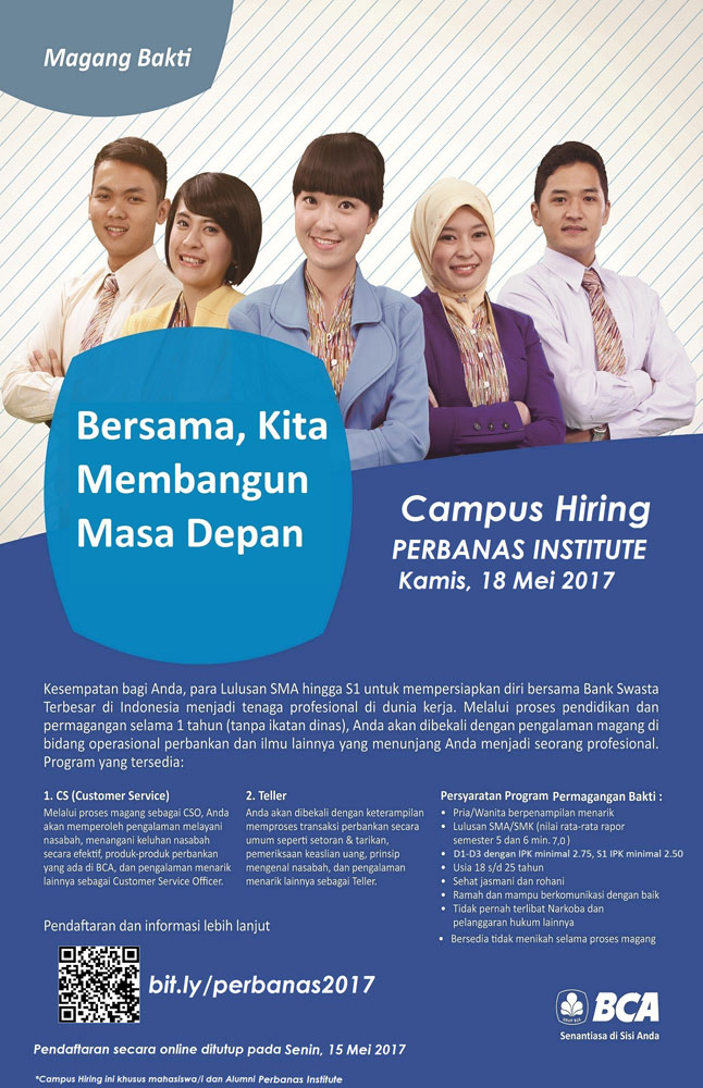 Bank BCA Campus Hiring Perbanas Institute