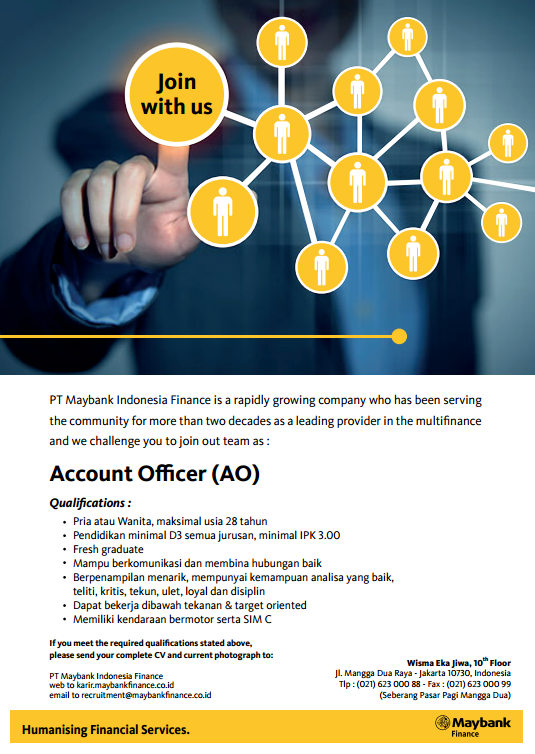 Informasi Lowongan Pekerjaan PT Maybank Indonesia Finance