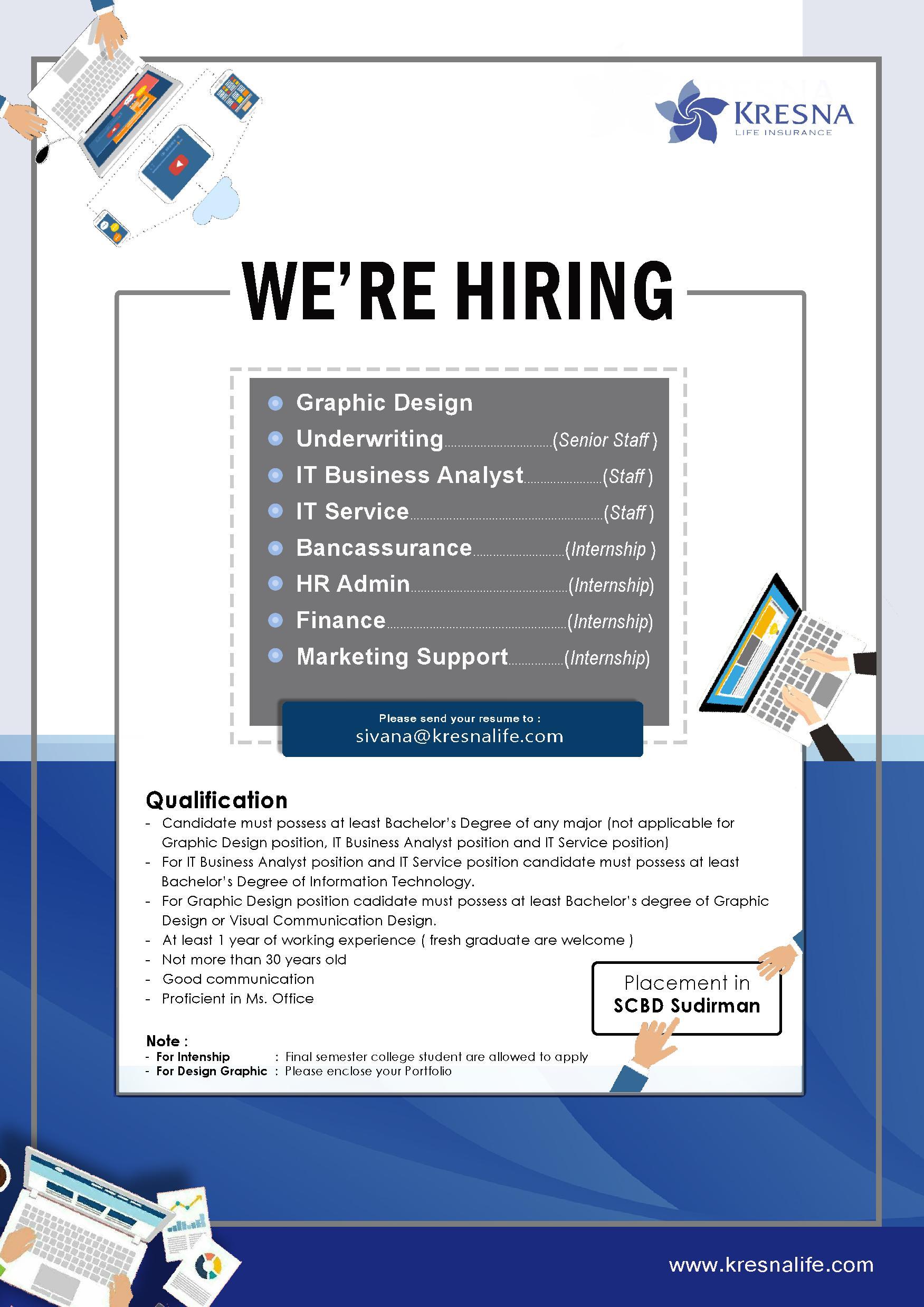 Informasi Lowongan Pekerjaan di PT Asuransi Jiwa Kresna