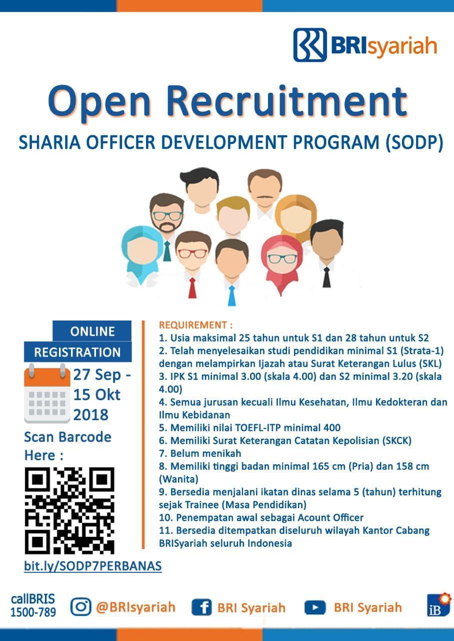 Informasi Lowongan Pekerjaan di BRI Syariah