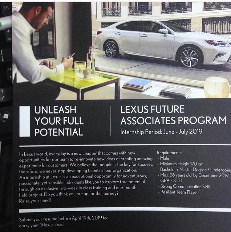LEXUS FUTURE ASSOCIATES PROGRAM
