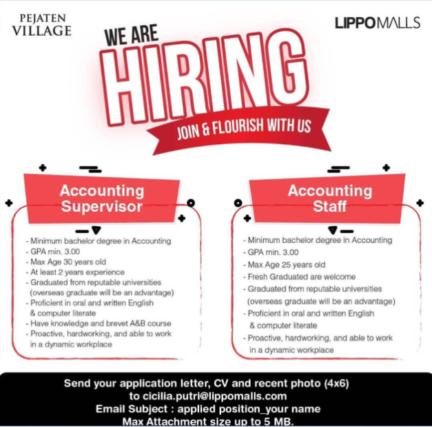 Acconting Supervisor & Accounting Staff
