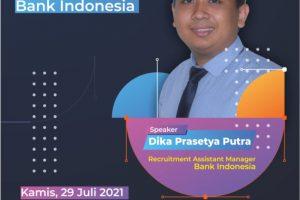 Webinar Persiapan Seleksi Penerimaan Pendidikan Calon Pegawai Muda Bank Indonesia